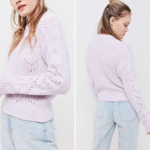 Urban Outfitters Libby Pointelle Mauve Sweater
